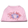 Mirage Pet Products Fireworks Rhinestone Shirt Light Pink XXL (18)