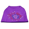 Mirage Pet Products Fireworks Rhinestone Shirt Purple XXXL(20)