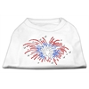 Mirage Pet Products Fireworks Rhinestone Shirt White XXXL(20)
