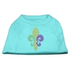 Mirage Pet Products Mardi Gras Fleur De Lis Rhinestone Dog Shirt Aqua XS (8)