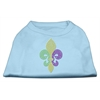 Mirage Pet Products Mardi Gras Fleur De Lis Rhinestone Dog Shirt Baby Blue XL (16)