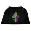 Mirage Pet Products Mardi Gras Fleur De Lis Rhinestone Dog Shirt Black XS (8)