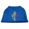 Mirage Pet Products Mardi Gras Fleur De Lis Rhinestone Dog Shirt Blue XL (16)