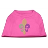 Mirage Pet Products Mardi Gras Fleur De Lis Rhinestone Dog Shirt Bright Pink XS (8)