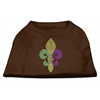 Mirage Pet Products Mardi Gras Fleur De Lis Rhinestone Dog Shirt Brown XS (8)