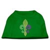 Mirage Pet Products Mardi Gras Fleur De Lis Rhinestone Dog Shirt Emerald Green Sm (10)