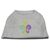 Mirage Pet Products Mardi Gras Fleur De Lis Rhinestone Dog Shirt Grey Lg (14)