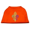 Mirage Pet Products Mardi Gras Fleur De Lis Rhinestone Dog Shirt Orange Sm (10)