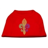 Mirage Pet Products Mardi Gras Fleur De Lis Rhinestone Dog Shirt Red XL (16)