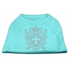 Mirage Pet Products Rhinestone Fleur De Lis Shield Shirts Aqua XXXL(20)