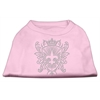 Mirage Pet Products Rhinestone Fleur De Lis Shield Shirts Light Pink XXXL(20)