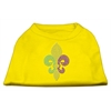 Mirage Pet Products Mardi Gras Fleur De Lis Rhinestone Dog Shirt Yellow Lg (14)