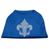 Mirage Pet Products Silver Fleur de Lis Rhinestone Shirts Blue XXL (18)