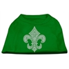 Mirage Pet Products Silver Fleur de Lis Rhinestone Shirts Emerald Green XS (8)
