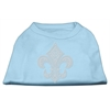 Mirage Pet Products Silver Fleur de lis Rhinestone Shirts Baby Blue XL (16)