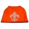 Mirage Pet Products Silver Fleur de Lis Rhinestone Shirts Orange XS (8)