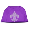 Mirage Pet Products Silver Fleur de lis Rhinestone Shirts Purple XXXL(20)