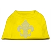 Mirage Pet Products Silver Fleur de Lis Rhinestone Shirts Yellow Med (12)