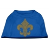Mirage Pet Products Gold Fleur de Lis Rhinestone Shirts Blue XL (16)