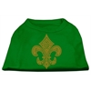Mirage Pet Products Gold Fleur de Lis Rhinestone Shirts Emerald Green XXL (18)