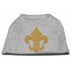 Mirage Pet Products Gold Fleur De Lis Rhinestone Shirts Grey XXXL(20)