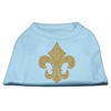 Mirage Pet Products Gold Fleur De Lis Rhinestone Shirts Baby Blue XXXL(20)