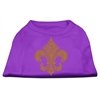 Mirage Pet Products Gold Fleur De Lis Rhinestone Shirts Purple XXXL(20)
