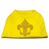 Mirage Pet Products Gold Fleur de Lis Rhinestone Shirts Yellow XS (8)