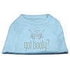 Mirage Pet Products Got Booty? Rhinestone Shirts Baby Blue XL (16