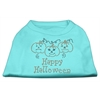 Mirage Pet Products Happy Halloween Rhinestone Shirts Aqua XXXL(20)
