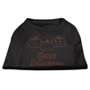Mirage Pet Products Happy Halloween Rhinestone Shirts Black XXXL(20)