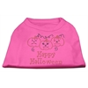 Mirage Pet Products Happy Halloween Rhinestone Shirts Bright Pink XXXL(20)