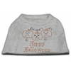 Mirage Pet Products Happy Halloween Rhinestone Shirts Grey XL (16)