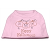 Mirage Pet Products Happy Halloween Rhinestone Shirts Light Pink XXXL(20)