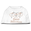 Mirage Pet Products Happy Halloween Rhinestone Shirts White XXXL(20)