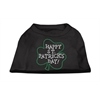 Mirage Pet Products Happy St. Patrick's Day Rhinestone Shirts Black XXXL(20)