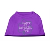 Mirage Pet Products Happy St. Patrick's Day Rhinestone Shirts Purple XXXL(20)