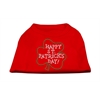 Mirage Pet Products Happy St. Patrick's Day Rhinestone Shirts Red XXXL(20)