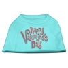Mirage Pet Products Happy Valentines Day Rhinestone Dog Shirt Aqua XL (16)