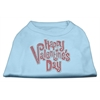 Mirage Pet Products Happy Valentines Day Rhinestone Dog Shirt Baby Blue XS (8)