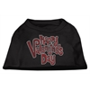 Mirage Pet Products Happy Valentines Day Rhinestone Dog Shirt Black XXXL (20)