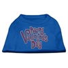 Mirage Pet Products Happy Valentines Day Rhinestone Dog Shirt Blue XXL (18)