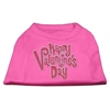 Mirage Pet Products Happy Valentines Day Rhinestone Dog Shirt Bright Pink XXXL (20)