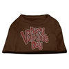 Mirage Pet Products Happy Valentines Day Rhinestone Dog Shirt Brown XL (16)