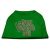 Mirage Pet Products Happy Valentines Day Rhinestone Dog Shirt Emerald Green XS (8)