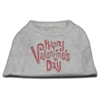 Mirage Pet Products Happy Valentines Day Rhinestone Dog Shirt Grey XS (8)