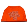 Mirage Pet Products Happy Valentines Day Rhinestone Dog Shirt Orange XL (16)