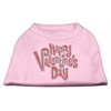 Mirage Pet Products Happy Valentines Day Rhinestone Dog Shirt Light Pink XXXL (20)