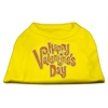 Mirage Pet Products Happy Valentines Day Rhinestone Dog Shirt Yellow XXXL (20)