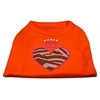Mirage Pet Products Zebra Heart Rhinestone Dog Shirt Orange XL (16)